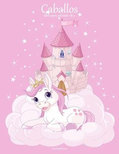 Buy Sky Castle and Unicorn by Dazdraperma on GraphicRiver. Illustration of the pink fairy castle and unicorn. Unicorn Fantasy, Unicorn Horse, Unicorn Art, Cute Unicorn, Unicorn Pinata, Unicorn Illustration, Illustration Art, Pink Unicorn Wallpaper, Unicornios Wallpaper