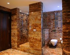 Delicieux Beautiful Stone Shower Walls And Flooru201d U201clike The Wall Between The Shower  And Toilet
