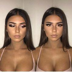 """""""Natural Makeup for any Healthier Skin"""", """"Her eye makeup is gor. Ball Makeup, Prom Makeup, Cute Makeup, Pretty Makeup, Wedding Makeup, Sparkly Makeup, Simple Makeup, Makeup Goals, Makeup Inspo"""