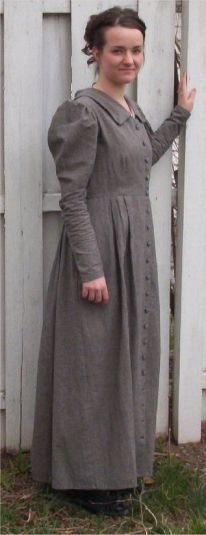 for winter i love this, it has an old feel but modest, and i love the sleeves, i think i was born 100 years too late!! :)