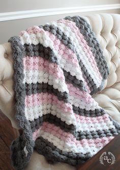 Puff Shell Crochet stitch baby blanket