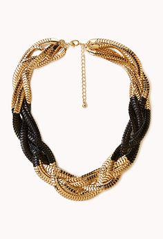 Colorblocked Snake Chain Necklace | FOREVER21 - 1022229181