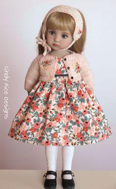 """""""Autumn Sunset"""", a hand made OOAK ensemble for Dianna Effner's Little Darling dolls, cindyricedesigns.com"""