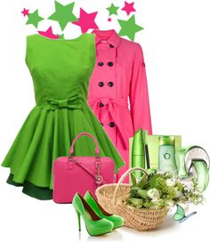 Pink & Green!