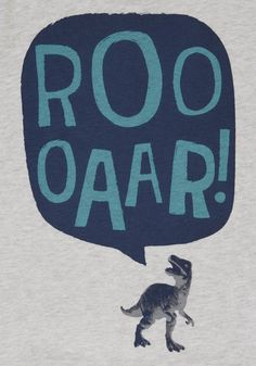 <li><p>A fun choice for playtime, this long sleeve t-shirt is rich in soft cotton and finished with a dinosaur graphic and slogan, plus a comfy crew neck.</p><p>Crew neck</p><p>Long sleeves</p></li>