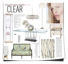 """Clear Color 1"" by icedoll ❤ liked on Polyvore featuring interior, interiors, interior design, home, home decor, interior decorating, Possini Euro Design, By Terry, Angelo and Brink & Campman"