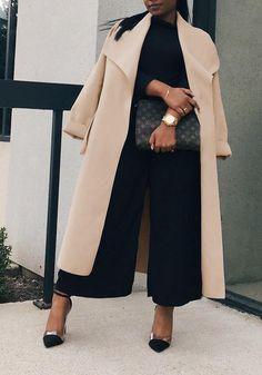 e4142c4f28b54 Camel Sashes Pockets Turndown Collar Long Sleeve Elegant Cardigan Wool Coat