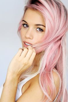 baby pink. Ugh I wish I could do this to my hair