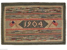 """HAND DYED RUG HOOKING WOOL Mill-Dyed ~ """"YANKEE DOODLE DANDY"""""""