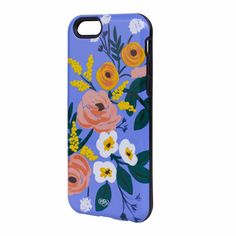 Violet Floral Rubber Inlay Cell Phone Cover for iPhone 6 Rifle Paper Co.: Rifle Paper Co. has expanded their beautiful designs to cell phones. This case provides protection without too much bulk.