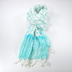 Candy Stripe Scarf Turquoise now featured on Fab.