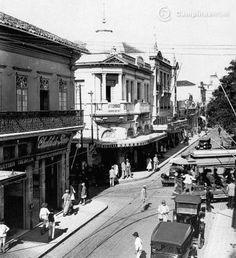Avenida Barão de Jaguara, anos 30. Cidades Do Interior, Rock Lee, Tube, Street View, City, Vintage, Old Photographs, Old Pictures, Old Trains