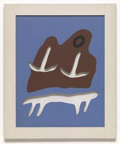 Jean Arp Mountain, Table, Anchors, Navel silkscreen with cut-outs Jean Arp, Action Painting, Painting & Drawing, Zurich, Hans Richter, Francis Picabia, Art Institute Of Chicago, Silk Screen Printing, Museum Of Modern Art