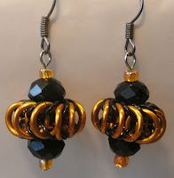 Horizontal Chainmaille Whirly Birds Earrings