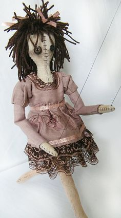 La Marionette  Handmade Cloth Doll by GuenillesetBoutons on Etsy, $165.00