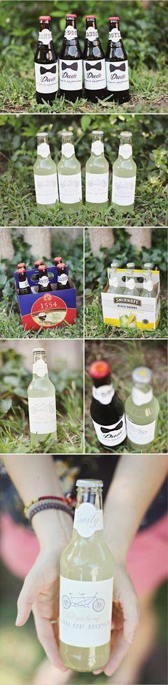 little wedding bottles