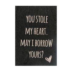Houten kaartje You stole my heart.. van Zoedt | Markita.nl