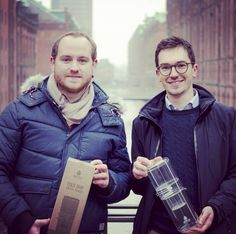 Picture of us (Hans & Philipp) with our DRIPSTER in the beautiful Speicherstadt Hamburg  #colddripcoffee #coldbrewcoffee #coldbrew