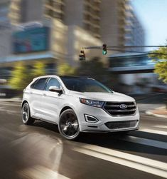 2018 Edge Sport in White Platinum Ford Edge Suv, 2019 Ford, Jeep Grand Cherokee, Expensive Cars, Vroom Vroom, Planes, Boats, Sport, Nice