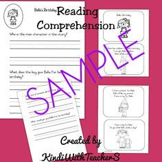 This Reading Comprehension Packet is designed to build comprehension for emergent readers and early readers. This comprehension can be used in a variety of ways: 1. Orally- this is a great way to build comprehension with students who are not yet ready to write a response or read the book independently. The teacher can read … Shared Reading, Emergent Readers, Early Readers, Inference, Confidence Building, Student Work, Mini Books, Reading Comprehension, Small Groups