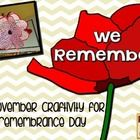 Get your students thinking about Remembrance Day or Veterans Day with this poppy craftivity.  Finished craftivities make a powerful display fo...