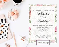 Thirtieth birthday, female 30th birthday, dirty thirty invite, 30th party invite, 30th birthday invite, 30th birthday invite, 30th birthday