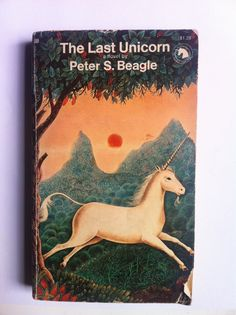 """""""The Last Unicorn"""" by Peter S. Beagle. if you like 'the princess bride' - or 'the phantom tollbooth - then you will like this fairy story - particularly recommended for the young at heart - this edition part of the legendary 'ballantine adult fantasy' series - with a gervasio gallardo cover and the trademark unicorn on the top right. ballantine 1973. 6th us. 12mo. 248pp. g. cover chipped and creased. pages mostly clean.    $10"""