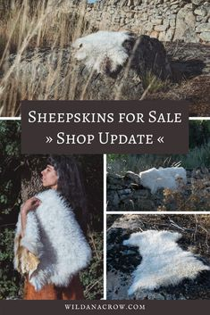 I offer handtanned sheepskins regularly in my shop. The sheepskins are   tanned with natural fats and oils only, and softened by hand. Perfect to   bring extra coziness to your home ♥ #sheepskins #naturalhomedecor   #ethicalsheepskins