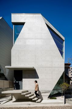 "This house is located in the center of Tokyo, on a site area of mere 66 m2. The clients are a married couple both working in the field of chemistry, sharing a passion for architecture and art. ""We want to see exposed concrete finish inside and out.  A ..."