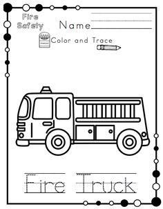 Preschool Printables: Fire Safety Printable No Prep