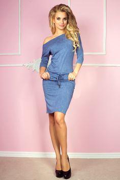 92795b4680 13-20 Sukienka sportowa - Wiskoza - jeans jasny niebieski