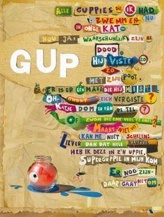 Op de post - poëziekaarten per stuk - Gup O Happy Day, Happy Art, Poetry Inspiration, Life Questions, School Posters, Children's Book Illustration, Cool Words, Spelling, Art For Kids