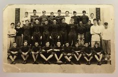 Antique 1935 Kingwood High School Football Preston WV Team Photo Schedule