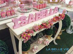 La Belle Vie Eventos: Ursinha Princesa - festa da Isabella