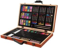 """Promising review: """"First, let's talk about the case, it's light weight and solid. It has a good sturdy handle perfect that is for little hands that tend to be less than gentle. The art supplies were good quality, fantastic quality for the price. This set is probably not appropriate for a professional, but for a little one it's great. Comes with lots and lots of colors and a variety of options."""" —Everett AgressottGet it for $15.99."""