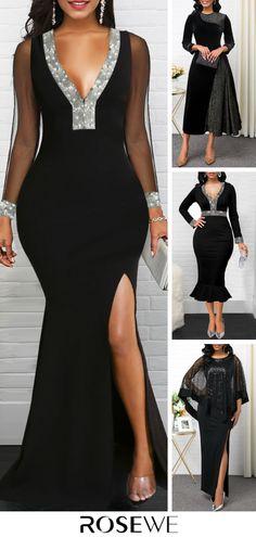 Black Wedding Dresses For Women 2020 Black Wedding Dresses, Elegant Dresses, Pretty Dresses, Sexy Dresses, Beautiful Dresses, Evening Dresses, Fashion Dresses, Prom Dresses, Dress Vestidos