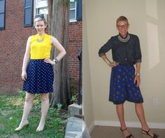 What We Wore: Cute Blue Skirts | Two Take on Style