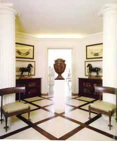 The Sutton Place entry hall - Bill de casas bedrooms interior design interior design Foyers, Foyer Decorating, Interior Decorating, Decorating Ideas, Sutton Place, Bill Blass, Classic Interior, Entry Hall, Celebrity Houses