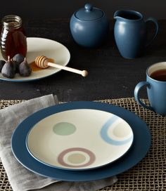 Colorwave Blue, featuring the Radius Accent Plate. http://noritakechina.com/colorwave-blue.html #blue #noritake #colorwave #dining #dinnerware #home