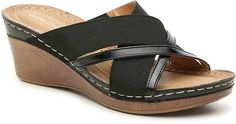 GC Shoes Sonia Wedge Sandal - Women's Comfortable Flip Flops, Shoes Women, Wedge Sandals, Shoe Boots, Take That, Wedges, Comfy, Casual, Pattern