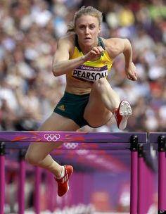 Australia's Sally Pearson competes in a women's 100-meter hurdles heat during the athletics in the Olympic Stadium at the 2012 Summer Olympics, London, Monday, Aug. 6, 2012.