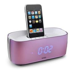 Denver IFM-15 iPod iPhone Dock Radio Alarm Clock -Dusky Pink
