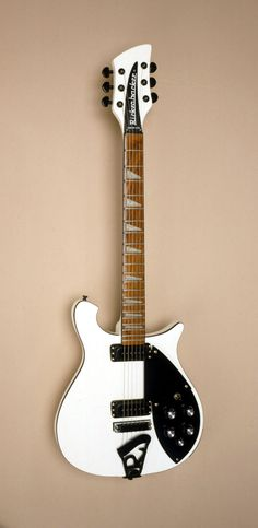 Gorgeous Rickenbacker 620 with custom Olympic White finish and Black detail.