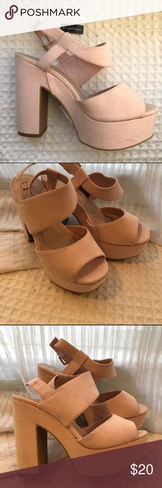 New Look light pink chunky platform heels Never been worn. New look chunky heels from Asos. UK 5, US 7 ASOS Shoes Heels