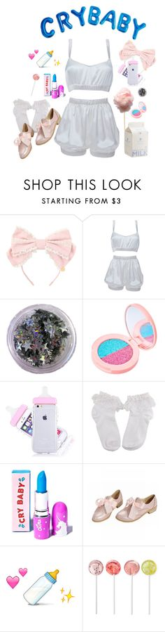 """""""melanie martinez \ cry baby"""" by shelly-alk ❤ liked on Polyvore featuring Roses Are Red and Lime Crime"""