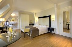 Junior Suite at Château d'Ouchy - Lausanne Lausanne, Spa, Lake Geneva, Welcome Decor, Outdoor Pool, Front Desk, Relax, Wi Fi, Public