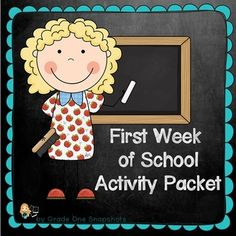 First Week of School Activity Packet for First Grade Over 50 pages $