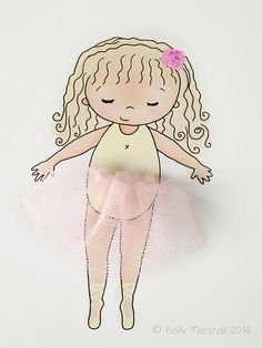 Little Ballerina...3D Wall Art...Tulle by SweetCheeksImages