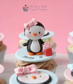 Pingüino Cupcakes