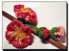 free pattern - Flowering Almond - 365 Flowers Project